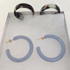 Anthropologie Jewelry - Anthropologie Hoop Earring Set